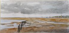 8x Franklin Meijer (1945) - Terschelling - Lot of 8 watercolour studies depicting the island of Terschelling