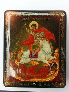 Russian lacquer box Palekh