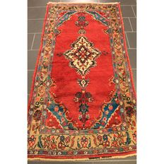 Persian carpet - Sarough Saruk Sarog - 220 x 110 cm - made in Iran circa 1960 - old piece carpet Tappeto Tapis rug