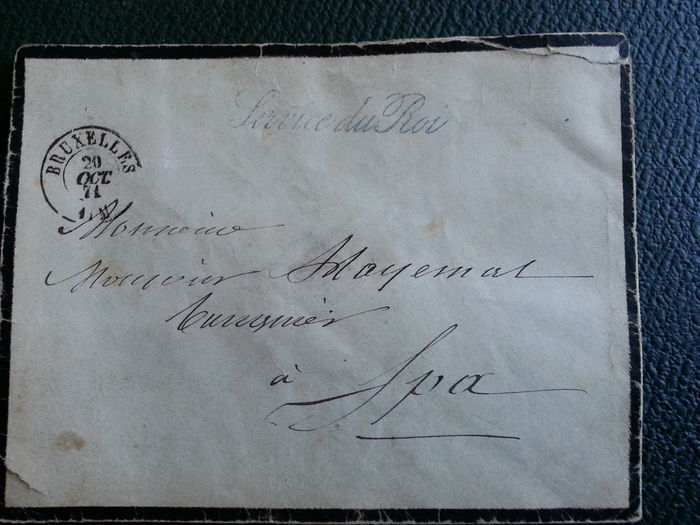 "Belgium 1859/1871 - Correspondence with seal ""Service du Roi"" and other letters - Yvert for sale"
