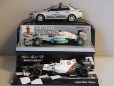 Minichamps - Scale 1/43 - Lot with 3 models: Alfa Romeo Race Control, Mercedes AMG Petronas F1 & Sauber C31-Ferrari