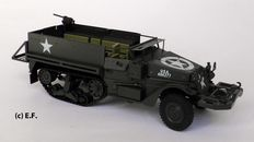 Gonio, CSSR - Scale 1/24 (length 28 cm) - M3 half track armoured personnel carrier made of tin, 1990s
