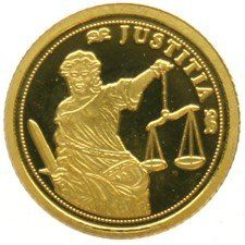 Ivory Coast - 1,500 francs - Justitia, without year - gold.
