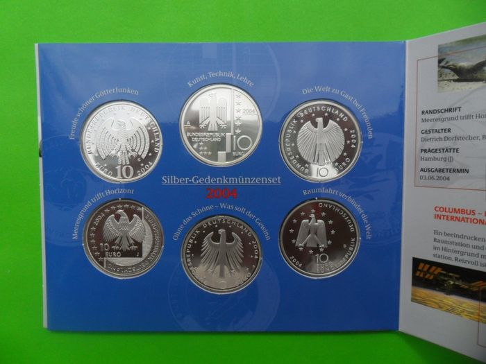 Germany - 10 Euro commemorative coin set 2004 PP - silver
