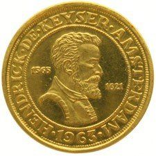 "The Netherlands – medal 1963,  ""Hendrick de Keijser 1565-1621 in Amsterdam"" – gold."