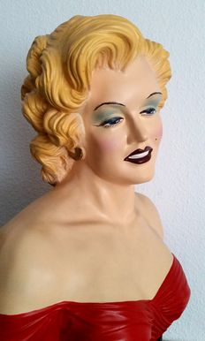 Large Marylin Monroe bust - USA - approx. 1970-80s, PVC