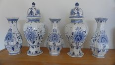 Delft Blue 5-piece cabinet set