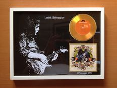 "Rory Gallagher Gold Plated CD Display "" Tattoo "" Including Signature"