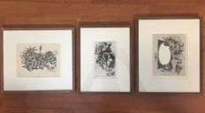 Fred C. Bergisch - Lot of 3 etchings