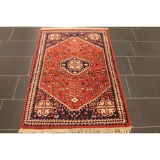 Oriental carpet Indo Ghashghai 150 x 110 cm, made in India, end of last century, tappeto tapis carpet