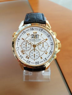 "Calvaneo 1583 – Gold-plated Chronograph – ""Astonia Chrono One Gold"" – Men's watch – Never worn"
