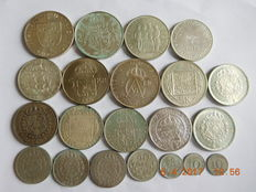 Sweden - 10 ore to 50 kronor 1912/1976 (21 coins) - silver.
