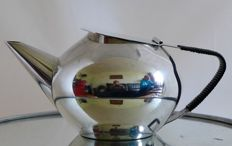 WMF silver plated teapot - with - wrapped handle - Art Deco/Bauhaus