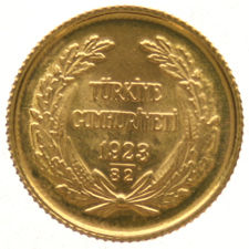 Turkey - 25 Kurush 1923/82 – gold