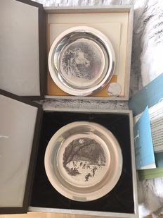 2 artists silver plate sterling silver