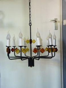 Svend Aage Holm Sorensen for Holm Sorensen and company - ten-armed chandelier.
