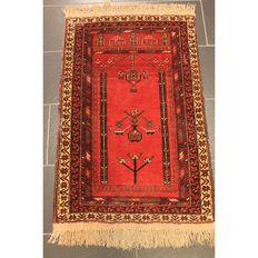 Antique handwoven Persian collector's carpet Belutsch around 1930 Collector Rug Carpet Tappeto Rug Made in Iran 110 x 70 cm