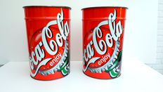 Two very large Retro Coca-Cola ice buckets - 2000, Belgium (see photos) -Official Brand