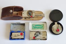 Vintage - 4 Self-timers  - Autoknips I -  Framex - Photoclip - DRP -  Germany and Switzerland.