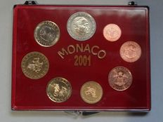 Monaco - 1 Cent to 2 Euro 2001 'Rainier III' (set of 8 coins)