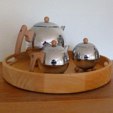 Bredemeijer teapot Duet Bella Ronde with tray and milk set