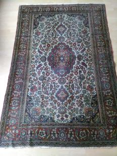 Antique, museum and rare Persian/Kashan Mohtasham carpet