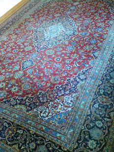 Imperial and wonderful hand-knoted XXL Persian/Kashan carpet 415×297cm