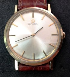 Omega, gentlemen's elegant wristwatch, 14kt gold, SLIM 1948