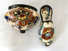 Regina - Two earthenware objects, Rosario and Lydia