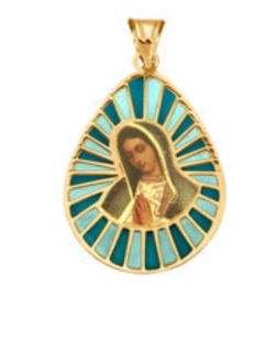 14ct gold pendant with Madonna motif