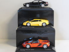 Minichamps - Scale 1/43 - Lot of 3 models: BMW, Lamborghini & McLaren