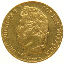 France – 20 francs 1838 A, Louis Philippe I – gold