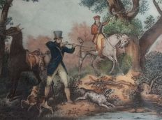 Carle Vernet (1758-1836) and Jean Pierre Marie Jazet (1788-1871) - Chasseur au Tir - 19th century