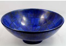 Hand-crafted Royal Blue Lapis Lazuli Bowl - 149 x 64mm - 419gm