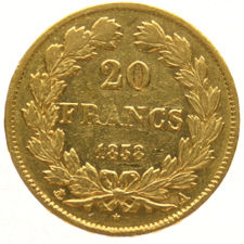 France – 20 francs 1838-A, Louis Philippe – gold.
