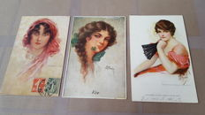 "Beautiful lot of ""Art Nouveau"" postcards, by famous illustrators - 26x."