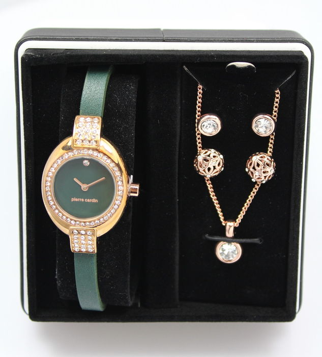 Pierre Cardin ladies' watch – necklace and earrings – gift set – unworn