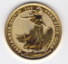 """Great Britain – 100 Pounds 2017 """"Britannia"""" – 1 ounce of gold"""