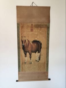 Printed reproduction of old painting - China - second half 20th century