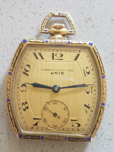 UNIC CHRONOMETRE - enamel tailcoat watch - around 1920