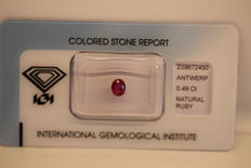 Ruby - 0.49 ct - No reserve price