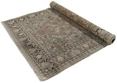 5010 – very antique genuine rug – original Serinegar, India – 153 x 90 xm – certificate of authenticity from official expert included – Galleriafarah1970
