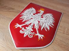 Polish national emblem, enamel sign, end of XX century - Rare