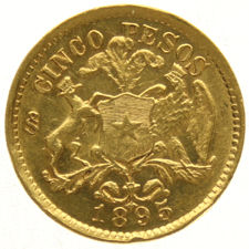 Chile – 5 Pesos 1895 – gold