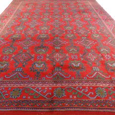 "Usak – 406 x 301 cm – ""Impressive, oversized Persian carpet – Eye-catcher in beautiful, slightly worn condition"""
