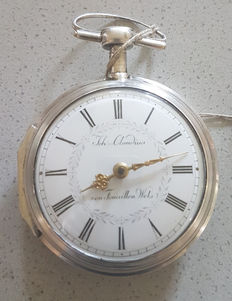 John..Claudius by Touaillon Wels – silver verge watch – special wind – Switzerland 1770