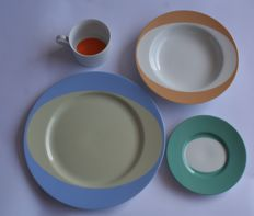 TsAO & McKOWN for Swid Powell-Cup and saucer and two plates