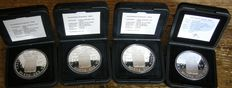 The Netherlands - Silver ducats 1989/2007 (4 different pieces) in cases