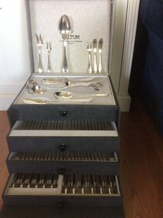 Georg Nilsson for Gero - 12 person dinner- and serving cutlery - Total of 84-pieces - Netherlands ca 1940