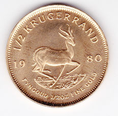 South Africa – ½ Krugerrand 1980 – 1/4 ounce of gold